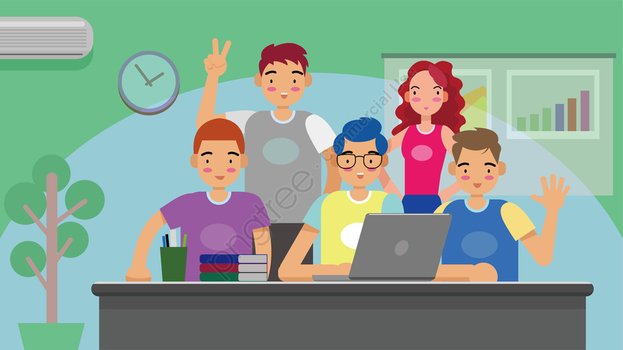 business office team cooperation, Integrity, Enterprise, Cheer llustration image