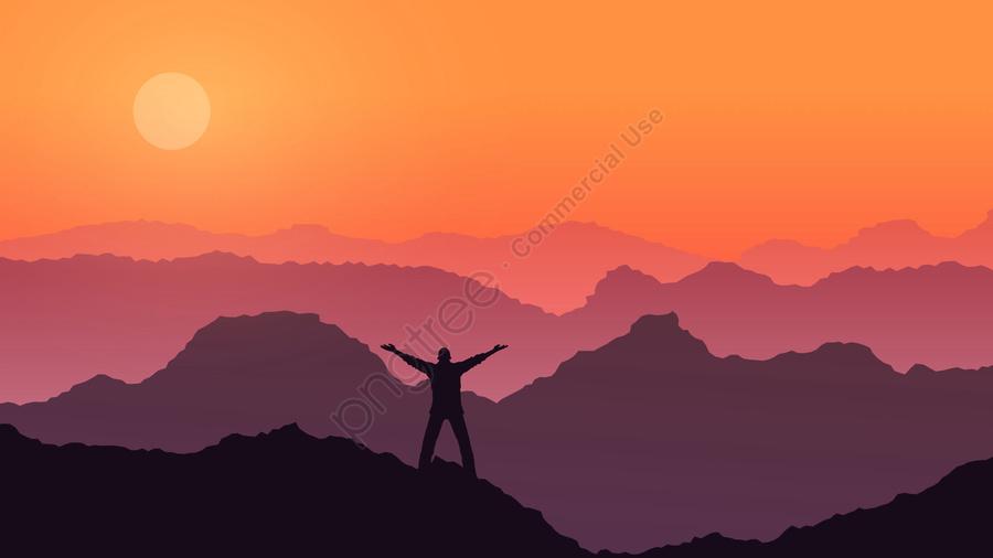 call high mountain sky sunset, Life, Mountains, Call llustration image