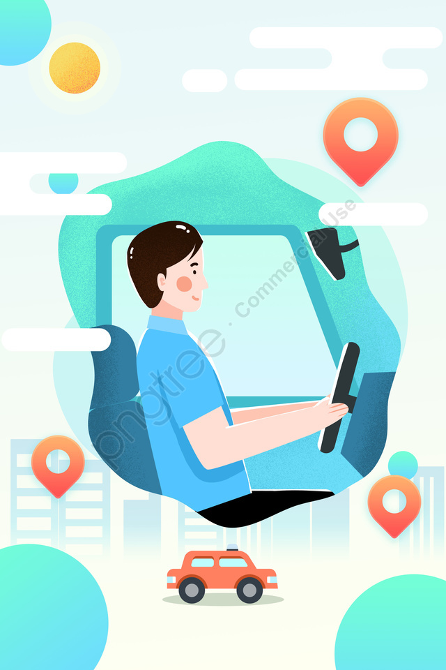 Career Jobs Industry Industry, Driver, Taxi, City llustration image