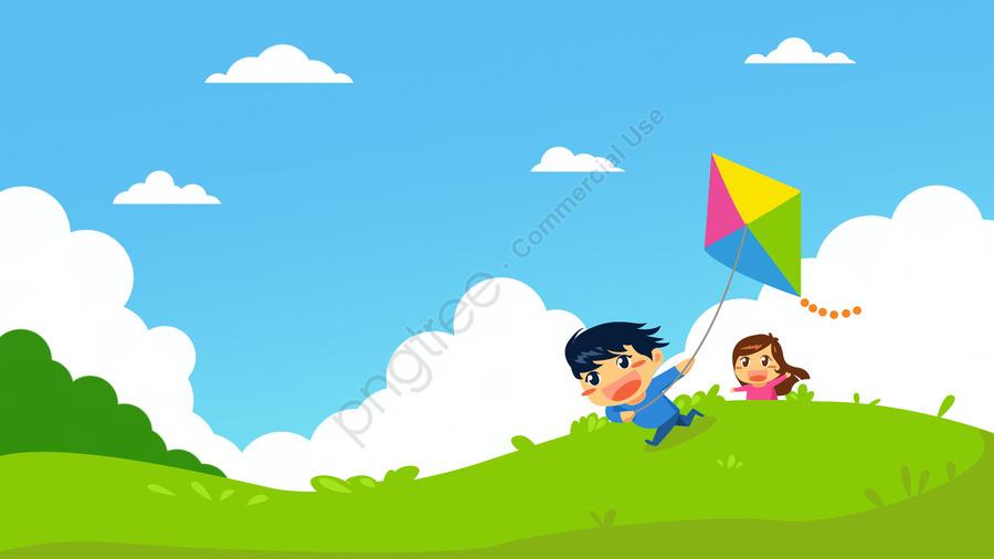 Phim Hoạt Hình Sáu Một Ngày Hội Thiếu Nhi, Trẻ Con, Cô Gái, Cậu Bé llustration image