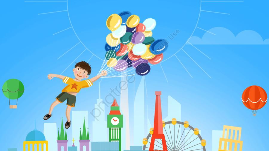 マンガ・コミック, チャイルド, 少年, 遊び llustration image