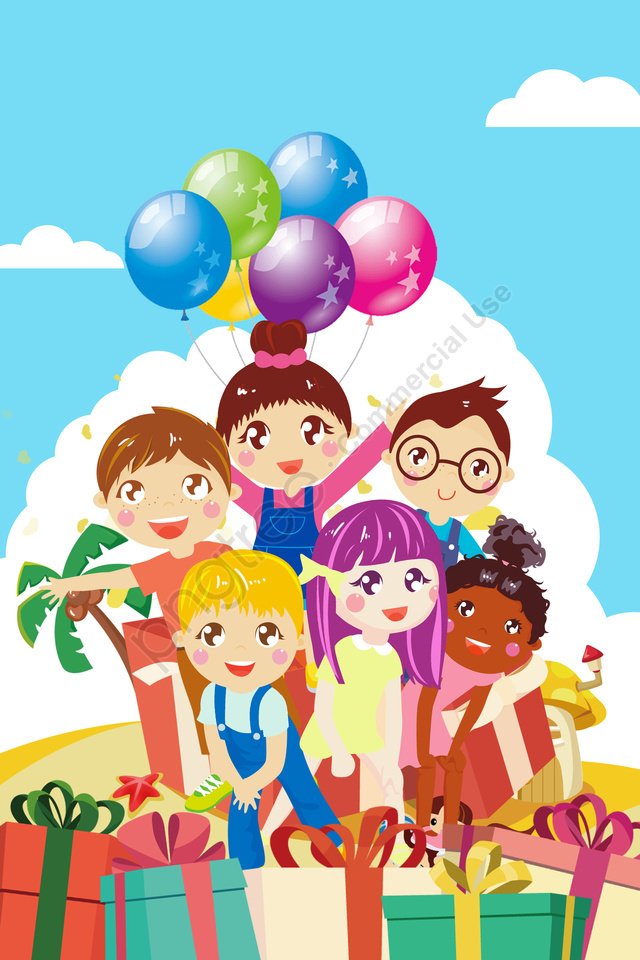 cartoon six one childrens day festival, 漫画の子供の日、ハッピーギフト、イラストを再生, 漫画, シックスワン llustration image