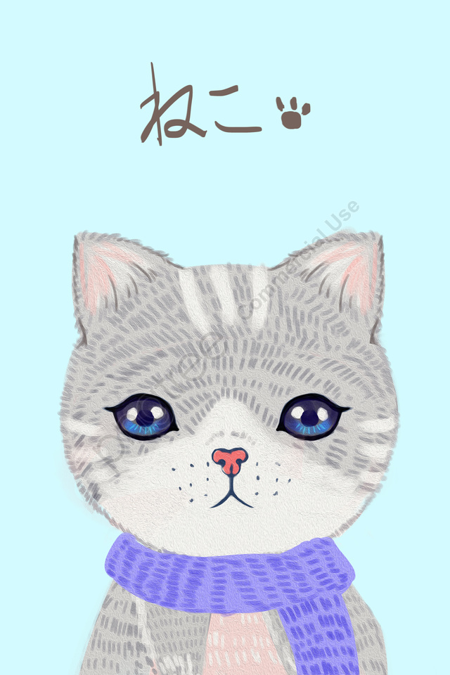 Mèo Chữa Thú Cưng Dễ Thương, Bằng Tay, Màu Chính, Mèo llustration image