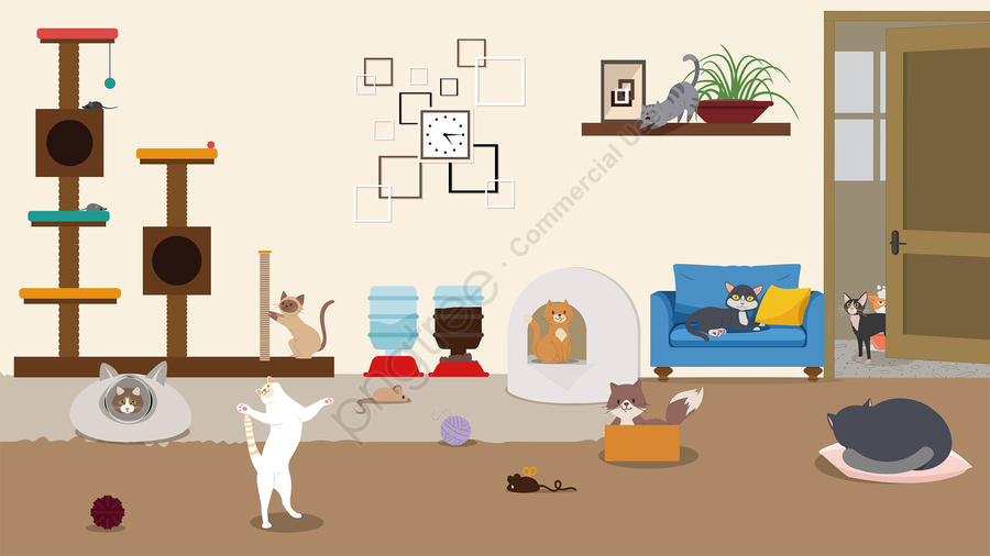 cat pet cat warm color, Lovely, Home, Cat llustration image