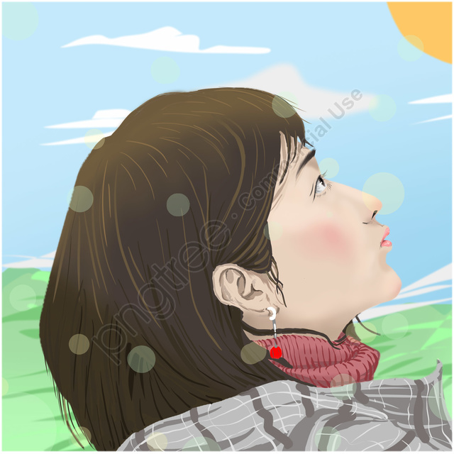 character nature warm positive, Cheerful, Full Of Yearning, Warm llustration image