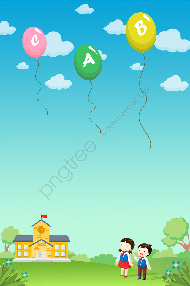 child education recognize letters balloon, Gái, Bóng, Trường llustration image