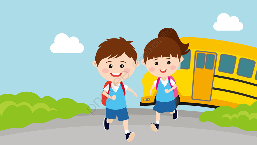 Children Starting School Go To School Run, School, Children, Starting School llustration image
