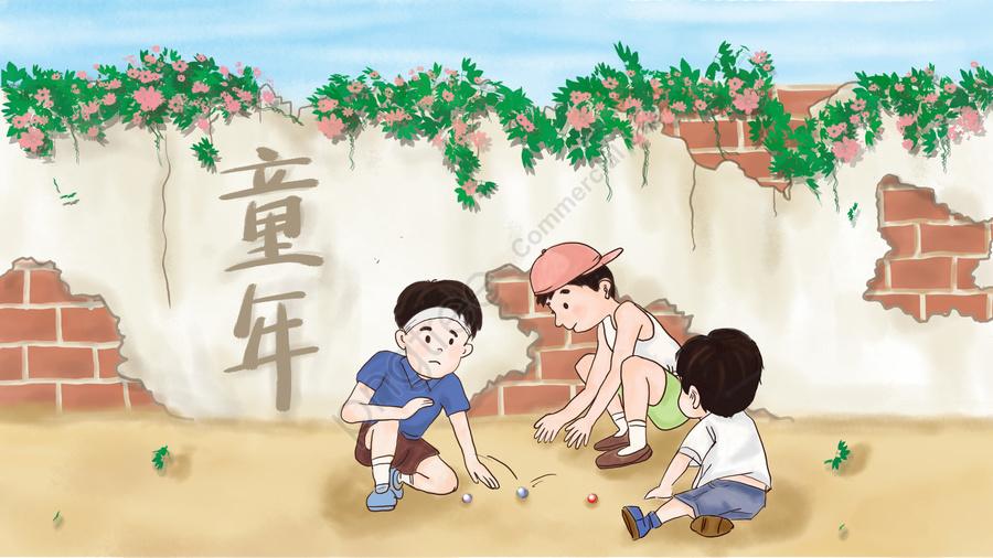 Trẻ Thơ Ngày Thơ ấu Tuổi Thơ, Bóng Nảy, Chơi Bi, Cậu Bé llustration image