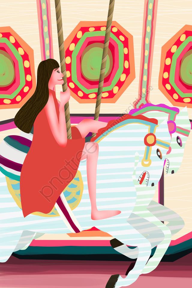 子供の日祭り女の子10代の少女, 遊び, ハッピー, イラスト llustration image