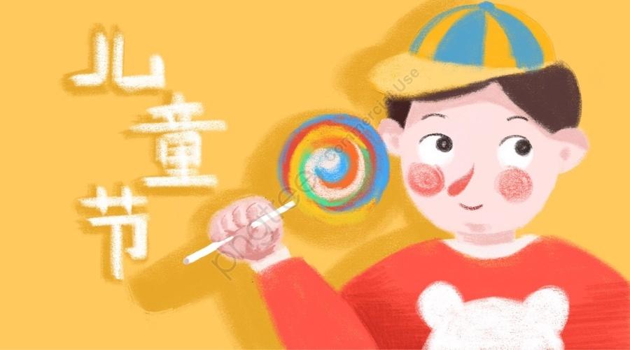 子供の日6子供の日幸せ, ナイーブ, チャイルド, 活発な llustration image