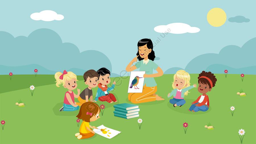childrens illustration illustration educational illustration educational book, 暖かくて素敵な子供の教育読書調査図, 子供のイラスト, イラスト llustration image