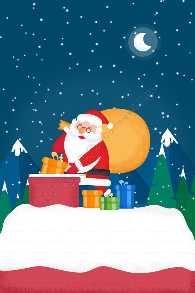 عيد الميلاد عيد الميلاد سانتا كلوز هدية, مدخنة, نغمة, المثال التوضيحي llustration image