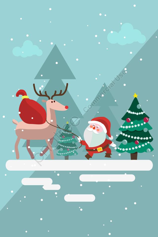 عيد الميلاد سانتا كلوز عيد الميلاد شجرة عيد الميلاد, هدية, مهرجان, ستار llustration image