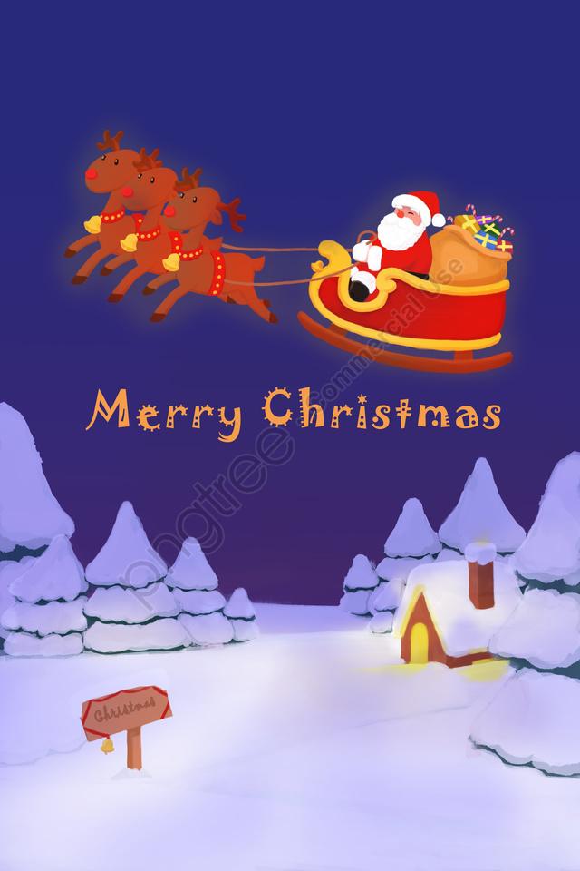عيد الميلاد سانتا كلوز الأيائل هدية, دافئ, كرتون, عيد الميلاد llustration image
