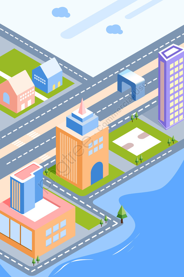 City Building Scenery House, City, Building, Scenery llustration image