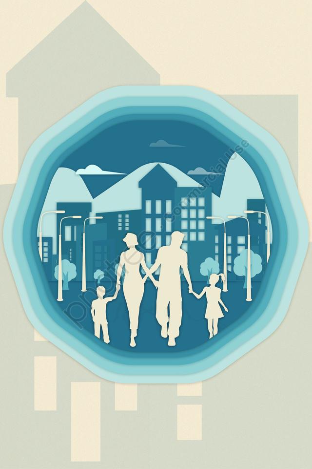 Xã Hội Thành Phố Bảo Vệ Môi Trường Xanh, Đơn Giản., Gia đình., Thành Phố Lớn llustration image