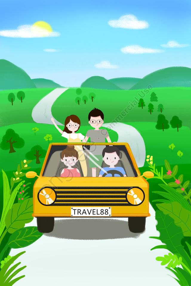 城市旅行夏季旅行綠色夏天, 旅行, 綠色, 新鮮的 llustration image