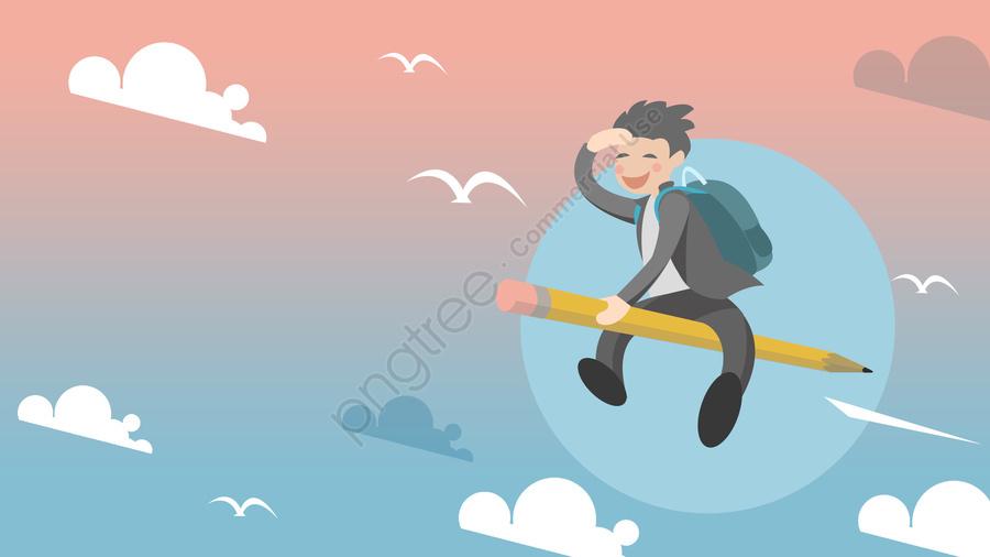 大学入試少年スプリントがやってくる, 戦争に備える, 闘争, 一生懸命働く llustration image