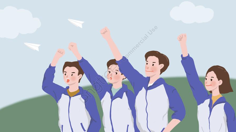 Kỳ Thi Tuyển Sinh đại Học, Mừng Rỡ, Máy Bay Giấy, Học Sinh llustration image