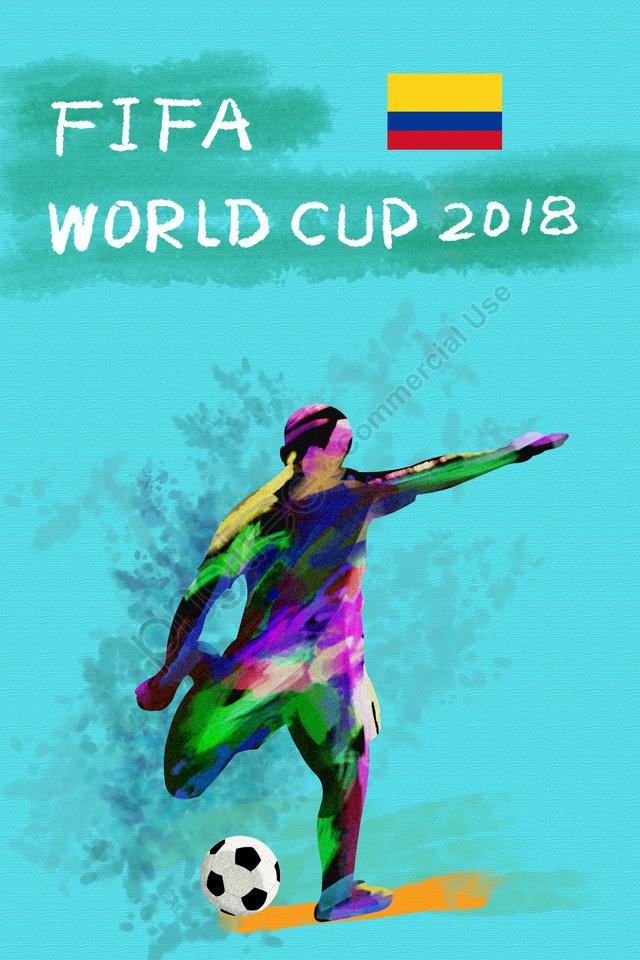 コロンビアサッカーワールドカップ2018, Fifa, アスリート, プレイヤー llustration image
