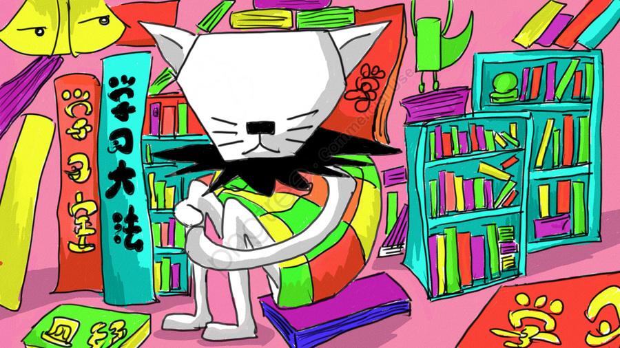 रंग अद्वितीय उज्ज्वल किताबें, कल्पना, जानें, पृष्ठभूमि छवि llustration image