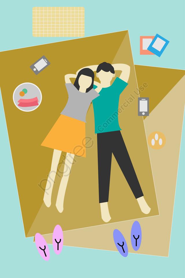カップルカップル屋外旅行旅行, 春のツアー, イラスト, 旅行イラスト llustration image