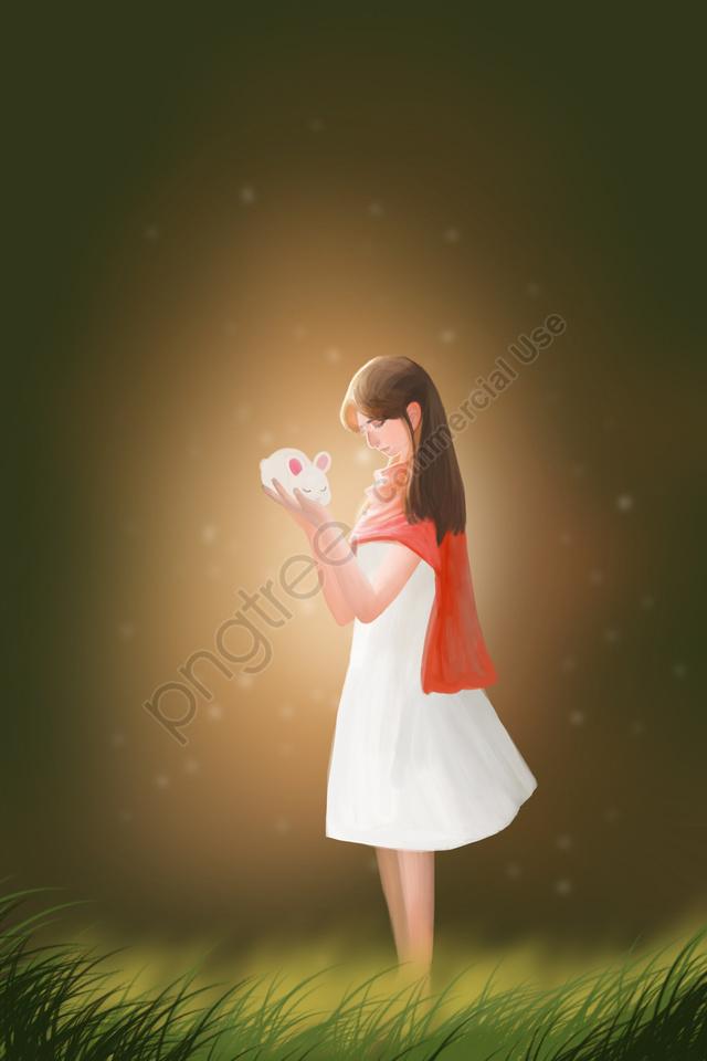 キュアキャラクターうさぎ少女, キュア, 人物, ウサギ llustration image