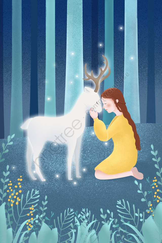 キュアフォレストガールディア, 鹿, キュア, 森 llustration image