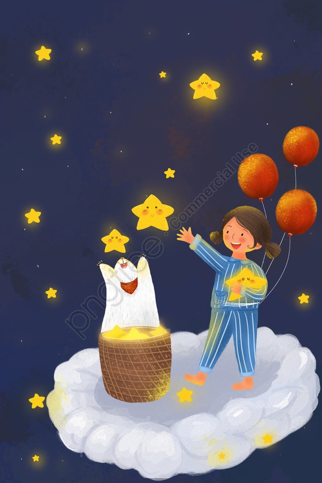 Cure Sky Starry Sky Star, Character, Animal, Cat llustration image