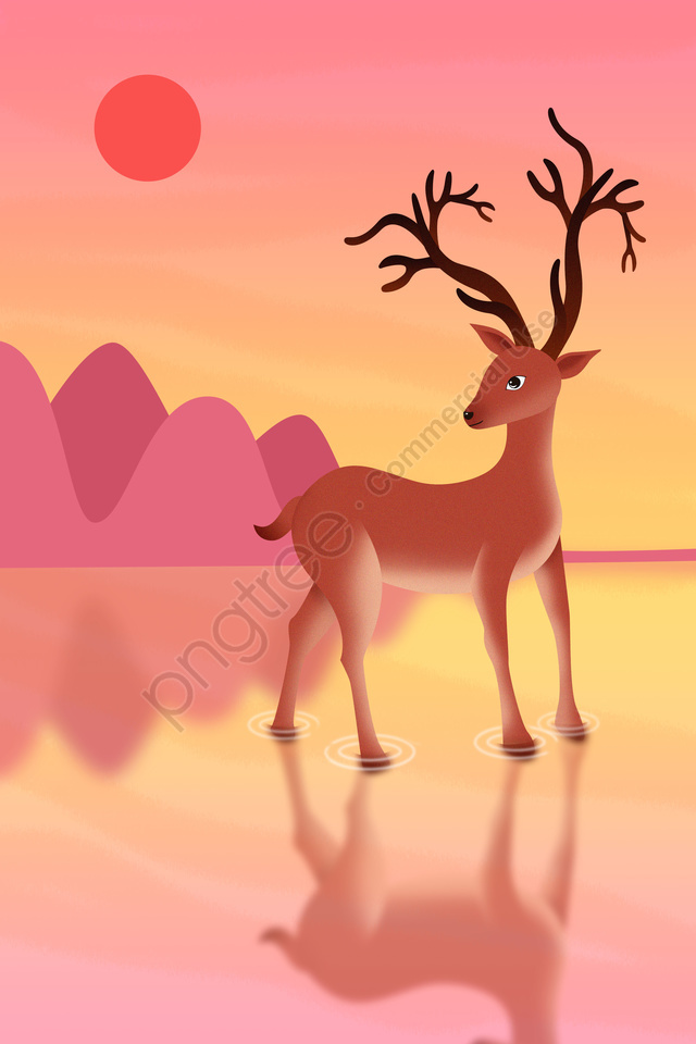 deer animal elk wild animals, Deer, Animal, Elk llustration image
