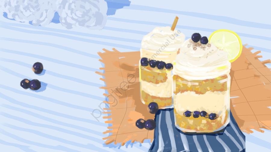Dessert Cake Cupcake Pastry, Lemon, Tablecloth, Summer llustration image