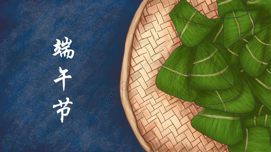 Dragão Barco Festival Ilustração Zongzi Tradicional, Festival, Placa De Bambu, Azul Escuro llustration image