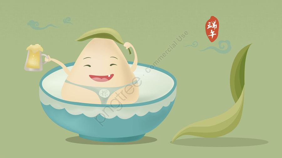 龍舟節瓷碗飲料啤酒卡通q版骰子, 端午節插圖, 蠍子影像, 第五五月 llustration image