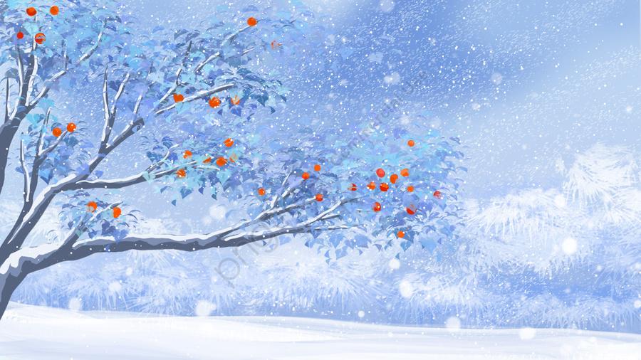 Giấc Mơ Tuyết Mùa đông, Đầu Đông, 入冬, Mùa đông Sâu llustration image