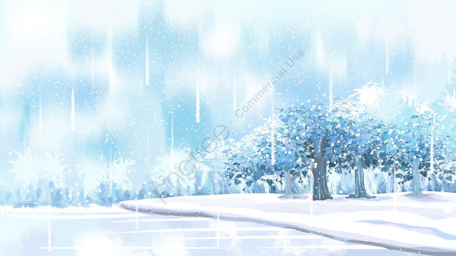 꿈 겨울 풍경 눈 현장, 겨울, 겨울 풍경, 겨울 자유형 llustration image