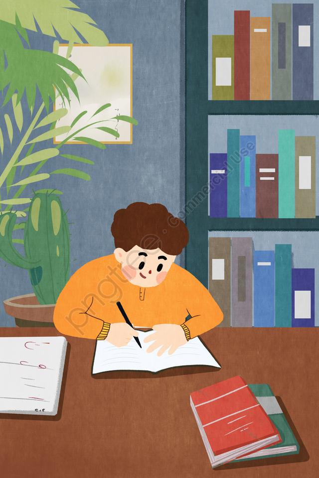 受験週間レビュー閲覧図書館, イラスト, 試験週間, レビュー llustration image