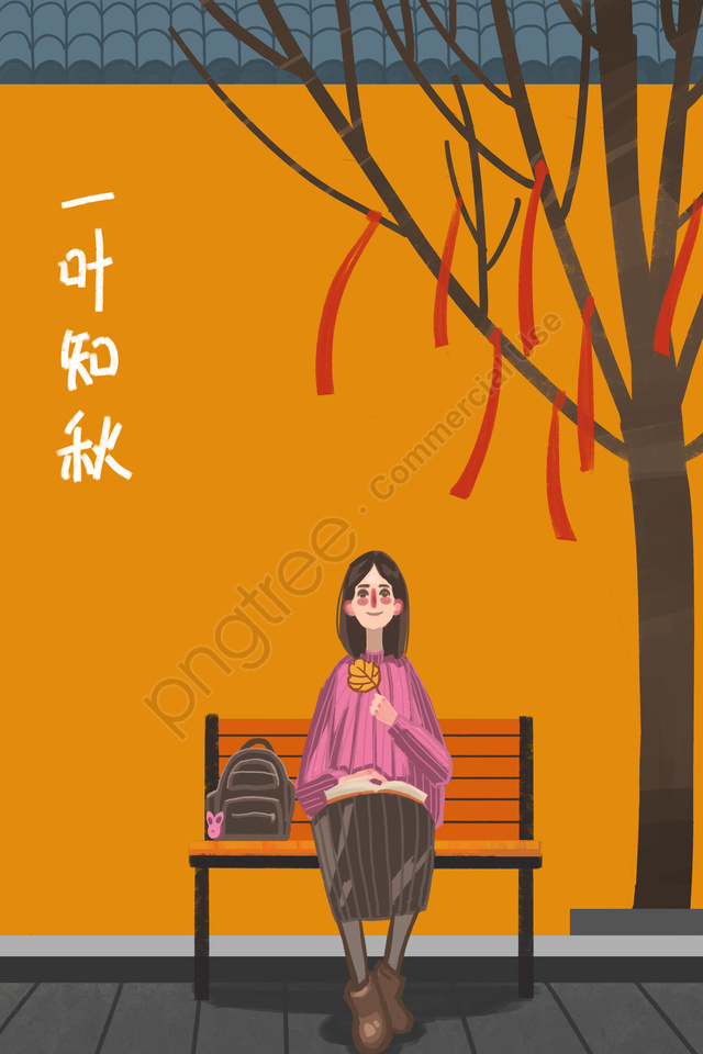 Fall Autumn Day Autumn Character, Land, Fall, Autumn Day llustration image