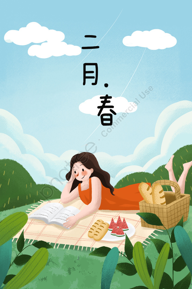 Reading Girl Clipart,Watercolor Fashion Girl Illustration Planner Picnic Season Spring And Summer Days Bike with Flower Woman With Book