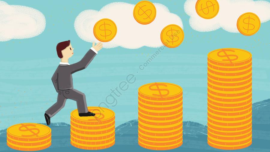 Ouro Da Moeda De Negócios Financeiros, A Riqueza, Acumulação, Origem llustration image