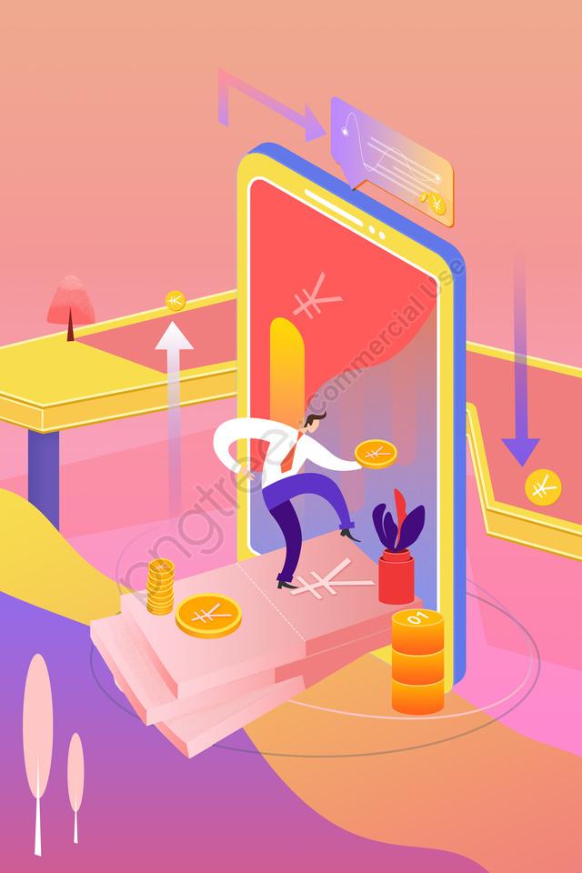 Финансовый финансовый менеджмент мобильный телефон 2 5d, 2, 5d, финансовые llustration image
