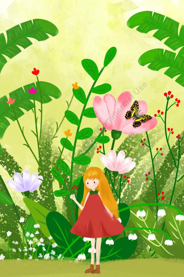 Flores Planta Linda Mão Pura Desenho Ilustração A Cura
