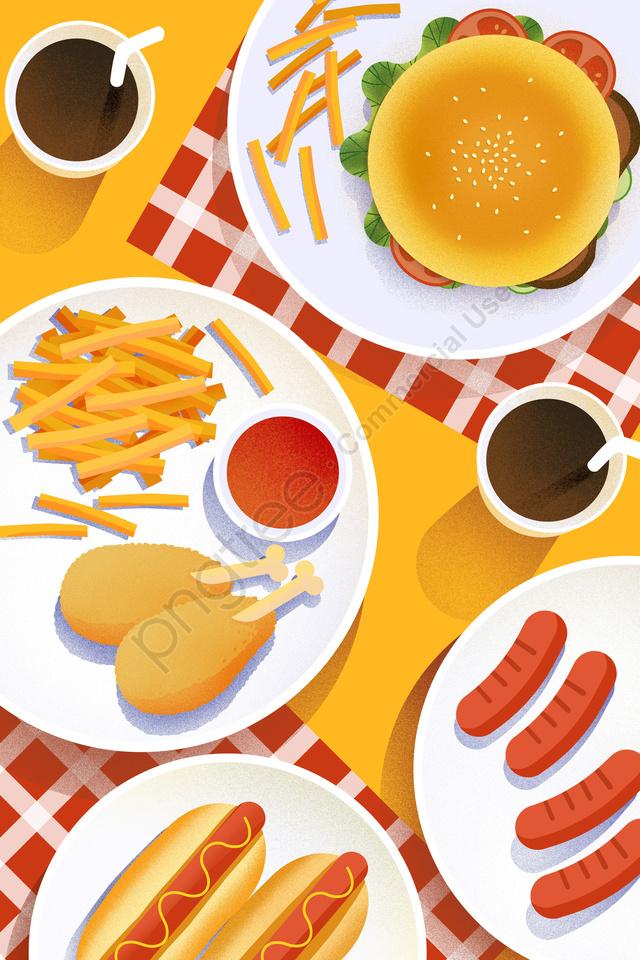 еда еда кухня иллюстрация, рукописные, американский, бургер llustration image