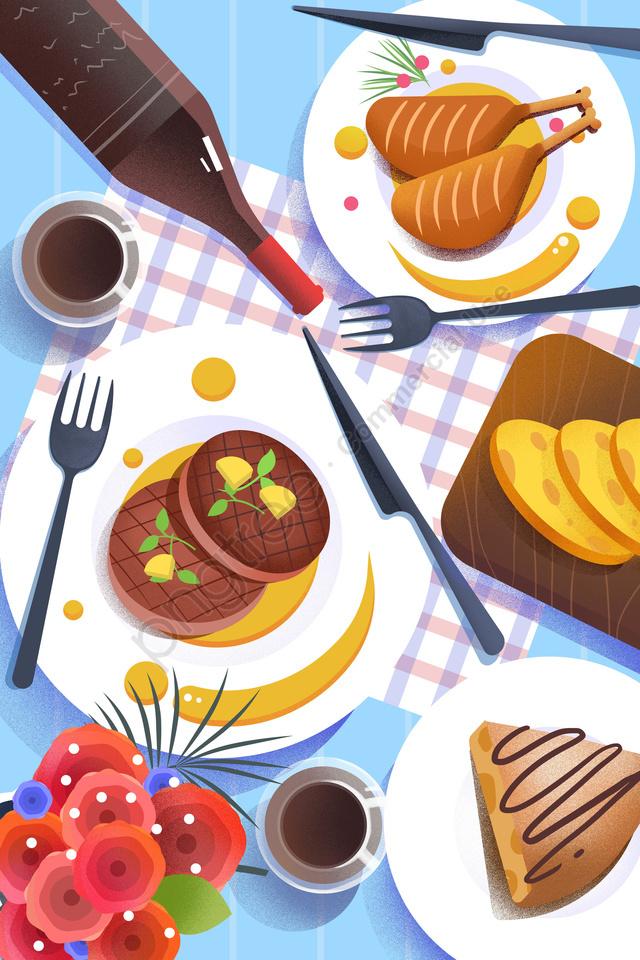 Thực Phẩm ẩm Thực Minh Họa, Bằng Tay, Món Pháp, Pháp llustration image