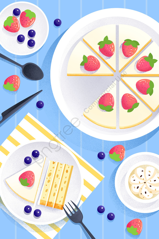 food illustration hand painted food, Western Style, Dessert, Cake llustration image