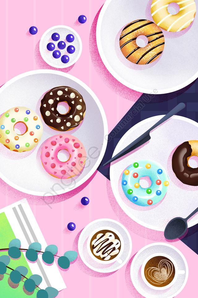 음식 그림 손으로 그린 음식, 서양식, 디저트, 케이크 llustration image