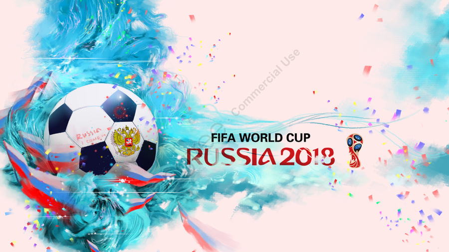 football national flag cheer cool colors, Russia, World Cup, Powder Blue llustration image
