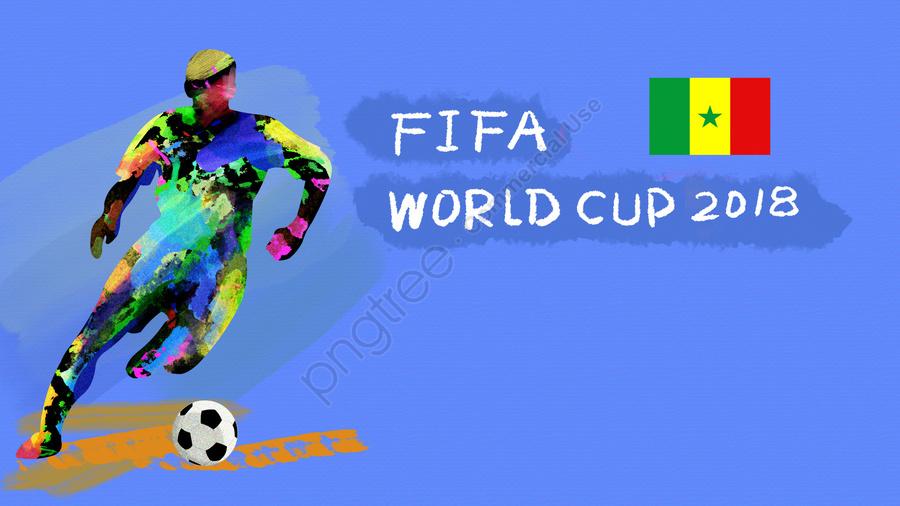 サッカーワールドカップ2018 Fifa, アスリート, プレイヤー, セネガル llustration image