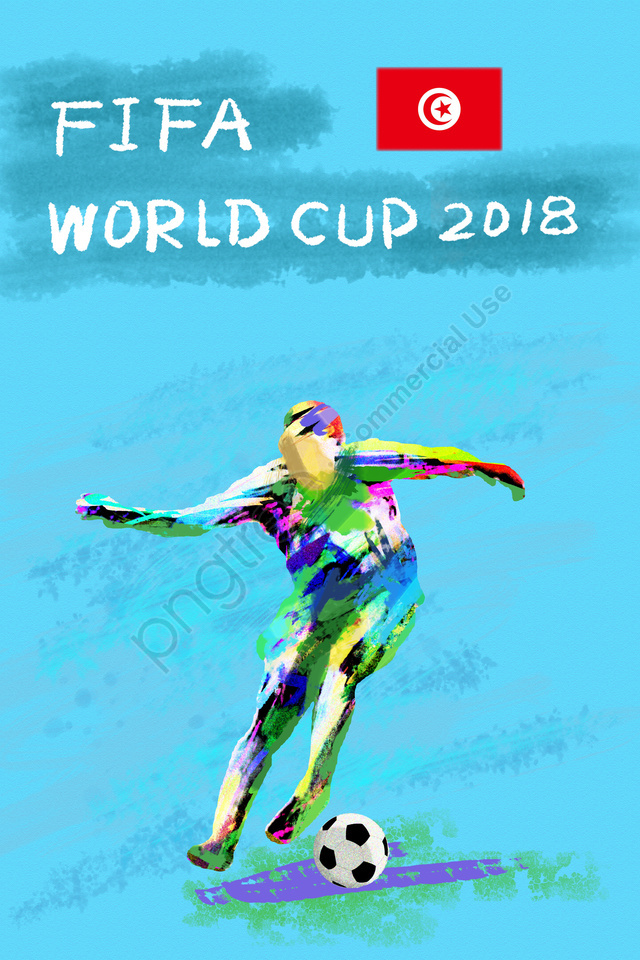サッカーワールドカップ2018 Fifa, アスリート, プレイヤー, チュニジア llustration image