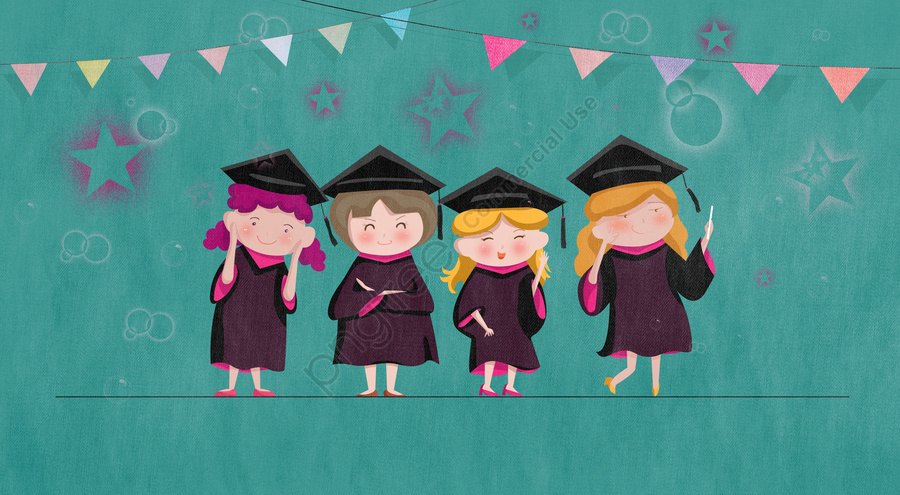 graduation season bachelor gown photo girl, Celebrate, Graduation, Green llustration image