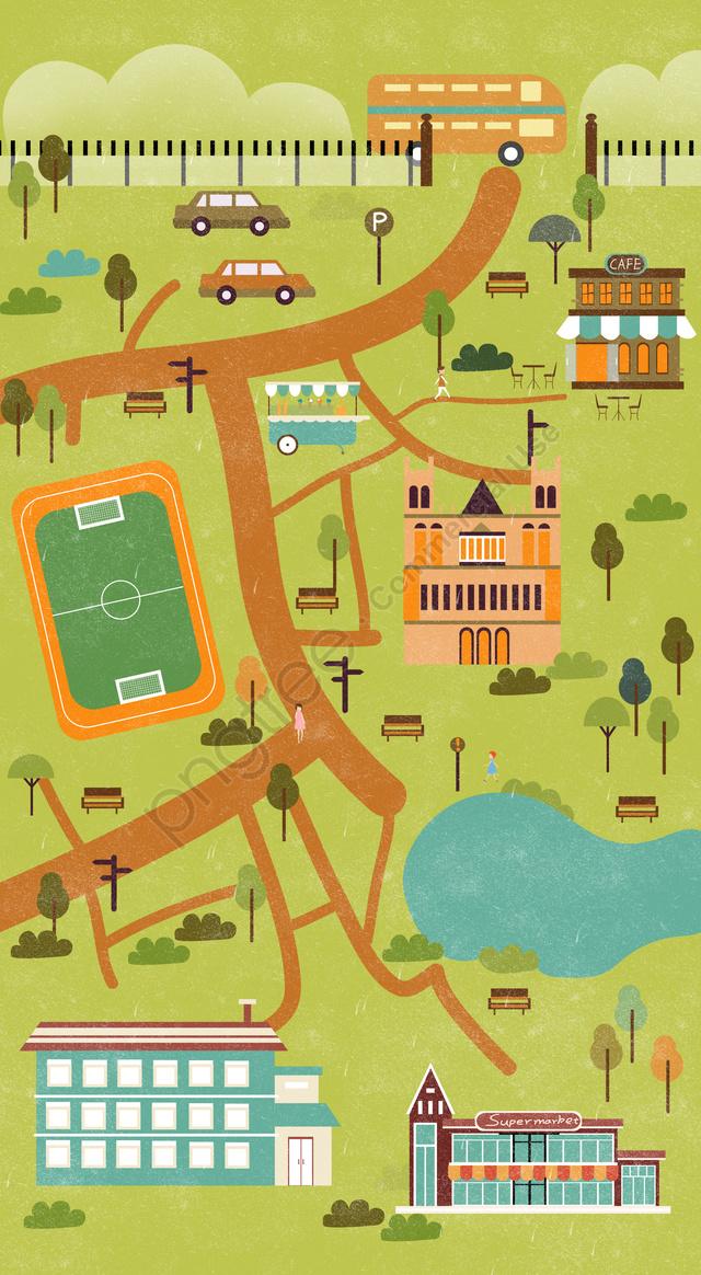 Tốt Nghiệp Mùa Giải Trí Giải Trí, Trường, Bản đồ, Trường Đại Học Kiến Trúc llustration image